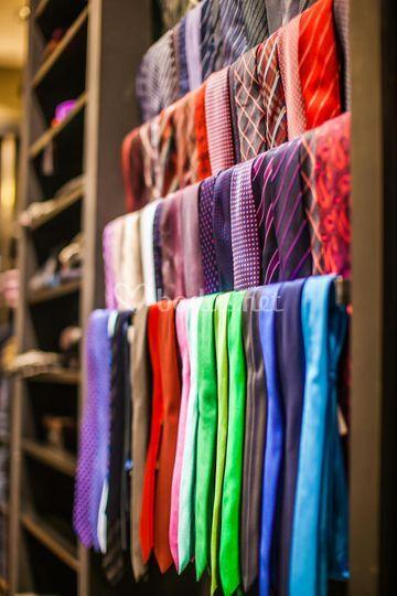 Variedad de corbatas