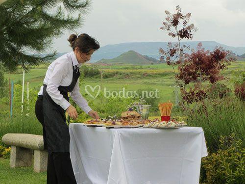 Preparación del catering