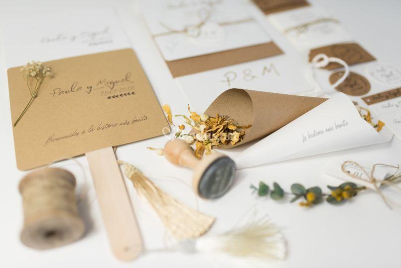 Papelería personalizada para bodas