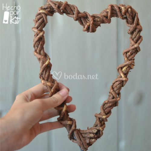 Corazón de ramas