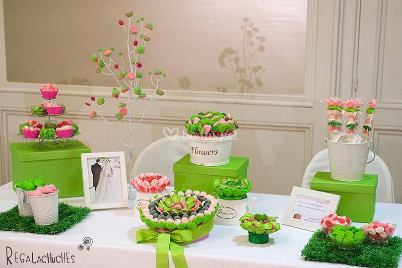 Regala chuches for Fotos de mesas de chuches para bodas