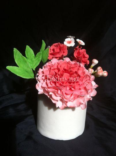 Flores de azúcar para tartas