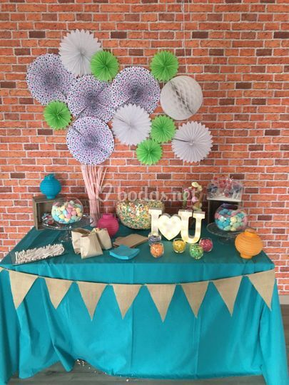 Candy Bar infantil en azul