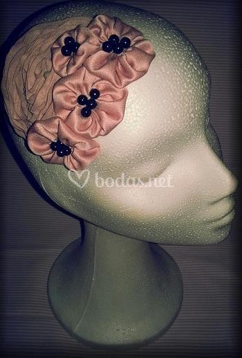 Flores en color rosa palo