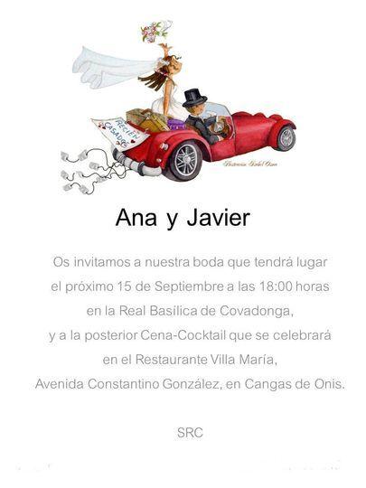 Invitación coche