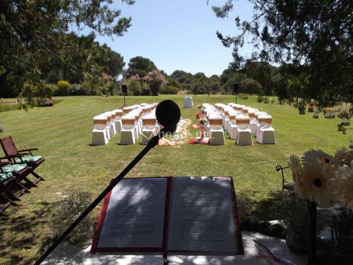 Montaje para boda civil