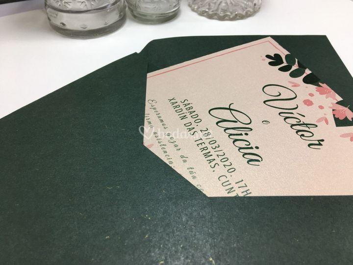Invitación en verdes