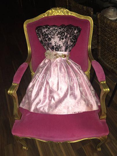 Vestido de fiesta corto rosa