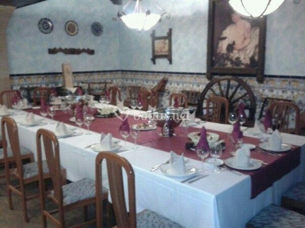 Banquete en bodega