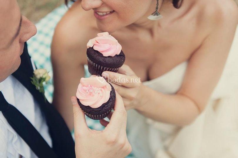 Pareja cupcakes