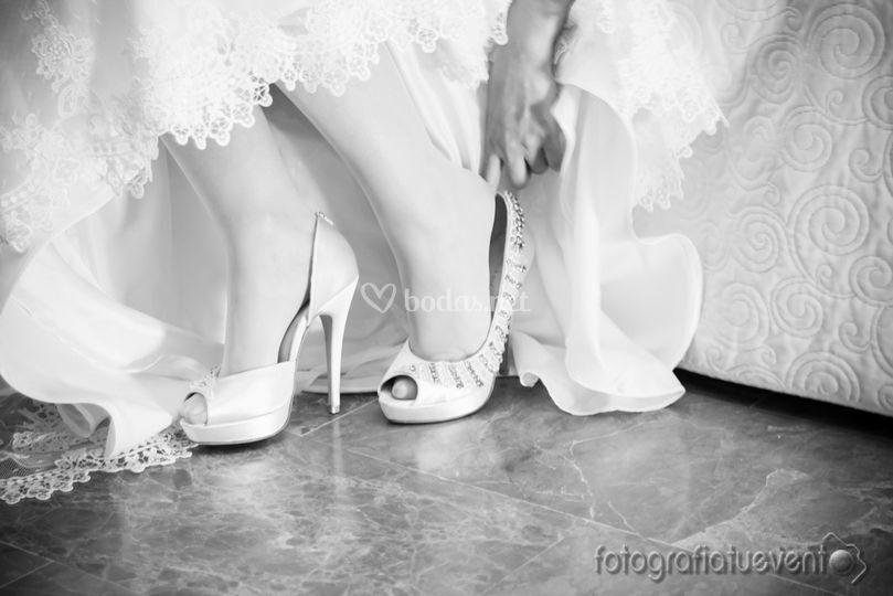 Preparativos con zapatos