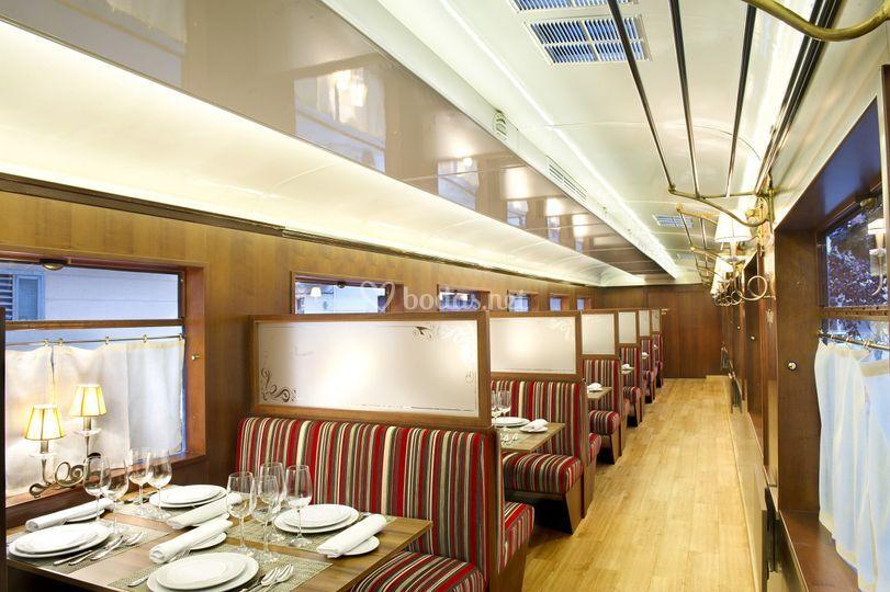 El interior del vagón