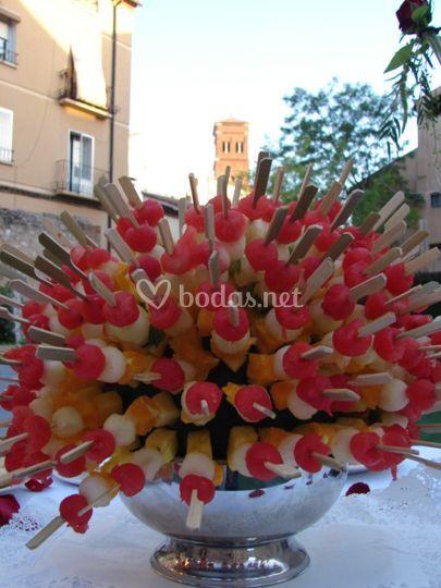 Pinchitos de fruta natural