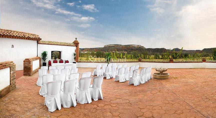 Terraza para boda civil
