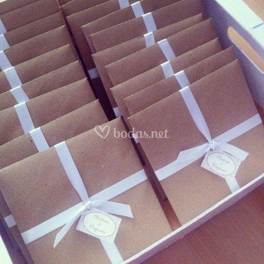 Packaging invitaciones de boda