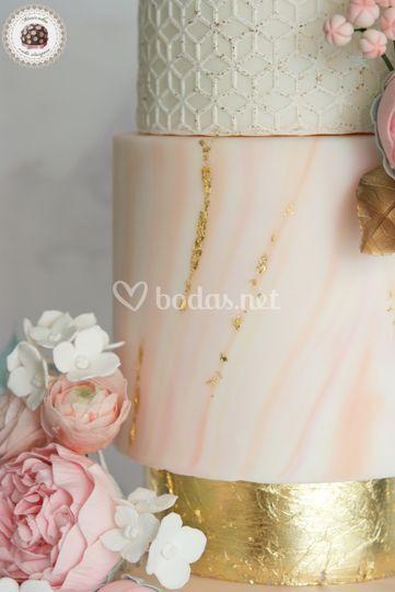 Marble & Gold Wedding Cake