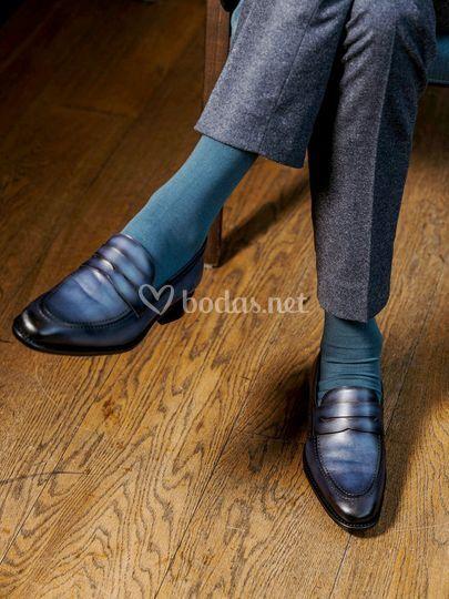 Loafer Penny Blue platina