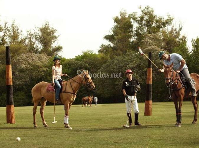 Jugando al polo en Buenos Aires