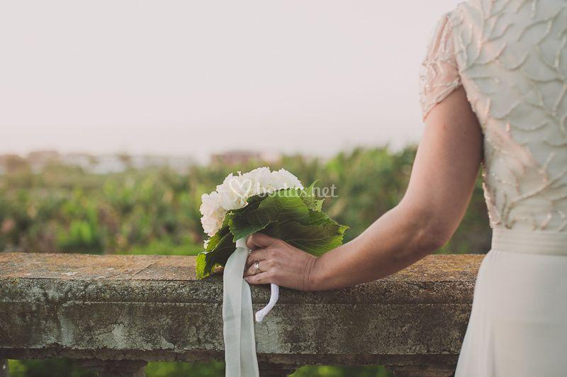 La novia esperándose