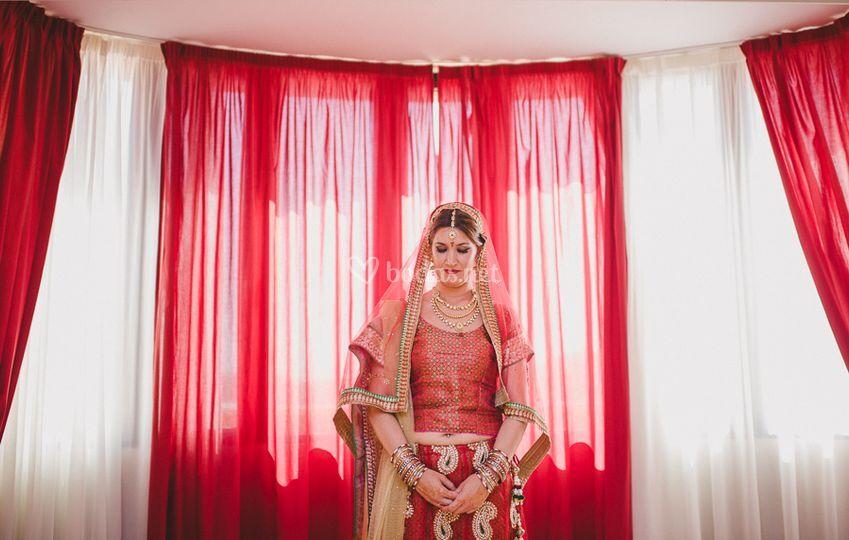 Boda hindu - novia