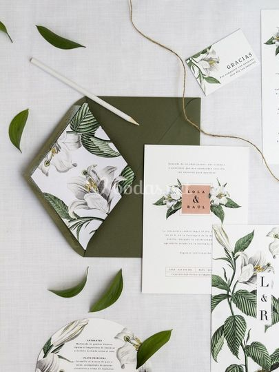 """Invitación """"Botánica"""""""