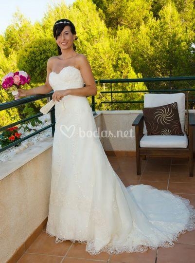 La novia con su bouquet