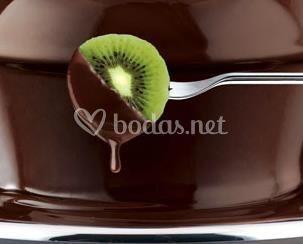 Chocolate negro con kiwi