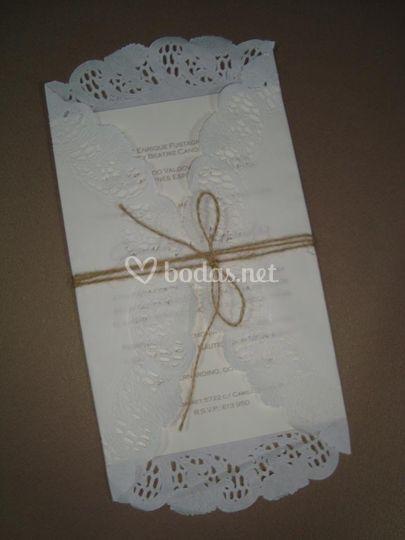 Tarjeta de bodas cerrado