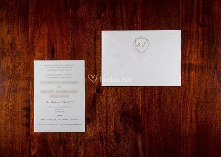 Invitación elegante y minimal