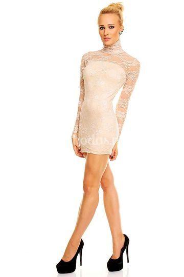 Vestido Cisne Beige