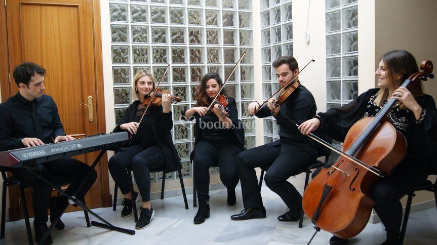 Cuarteto cuerda mas piano