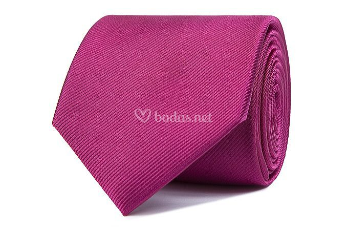 Corbata de seda rosa