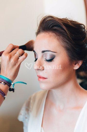Maquillando novia 2015