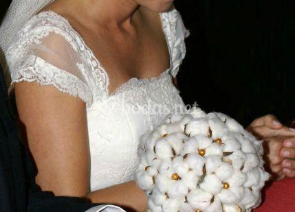 Bouquet en blanco