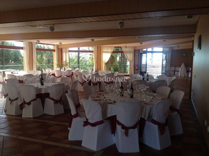 Vista general salón para eventos