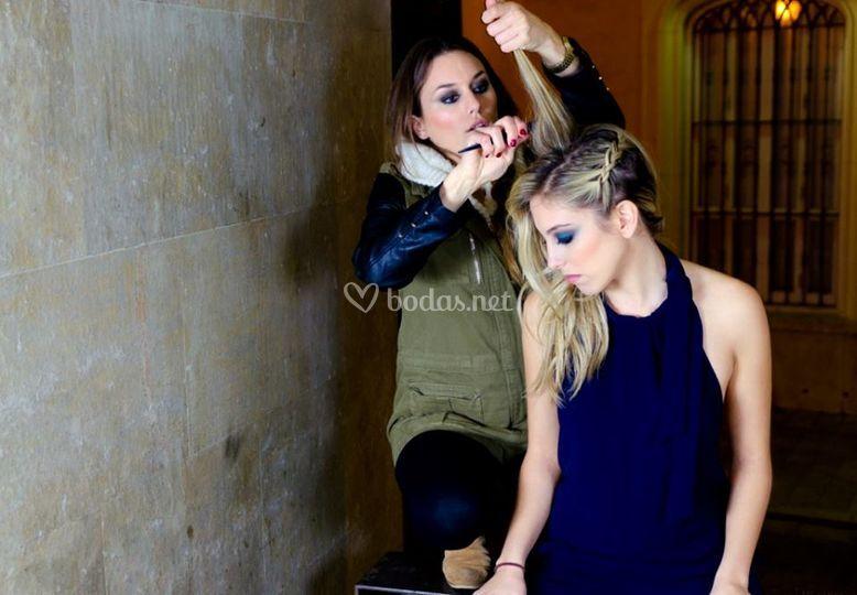 Maquillaje y peluquería sesión