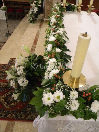 Mesa celebración religiosa