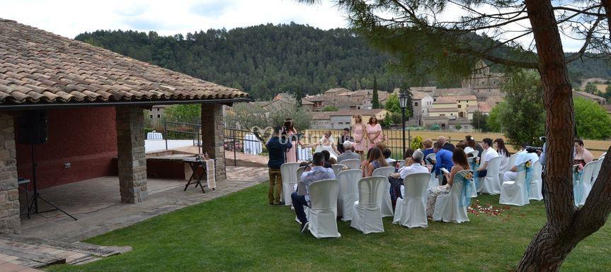Ceremonia en la masía El Sola