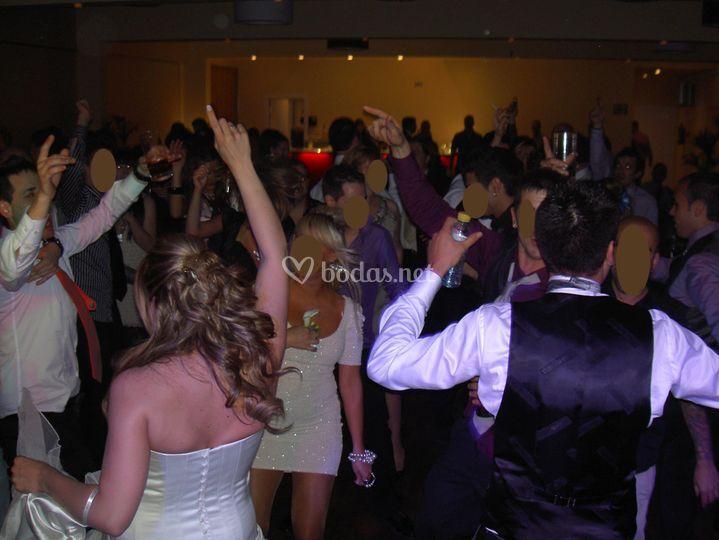 En pleno baile