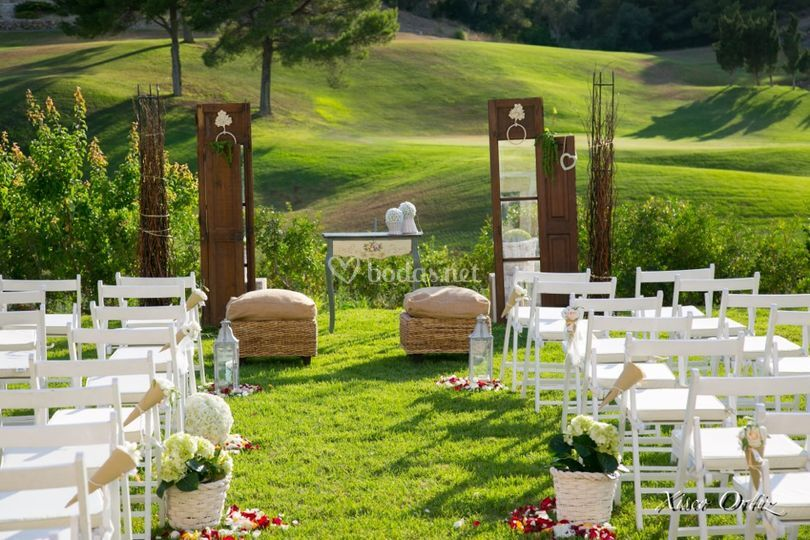 Ceremonias con mobiliario
