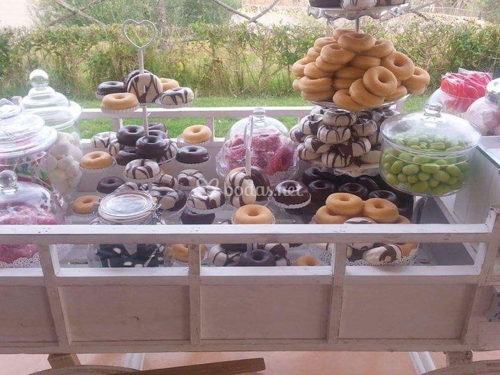 Carrito de donuts