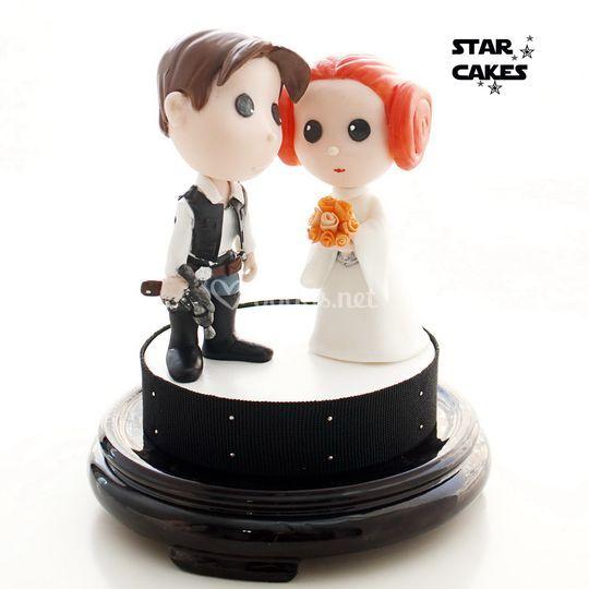 Figuras Novios Han Solo y Leia
