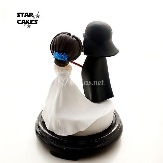 Figuras Novia y Darth Vader