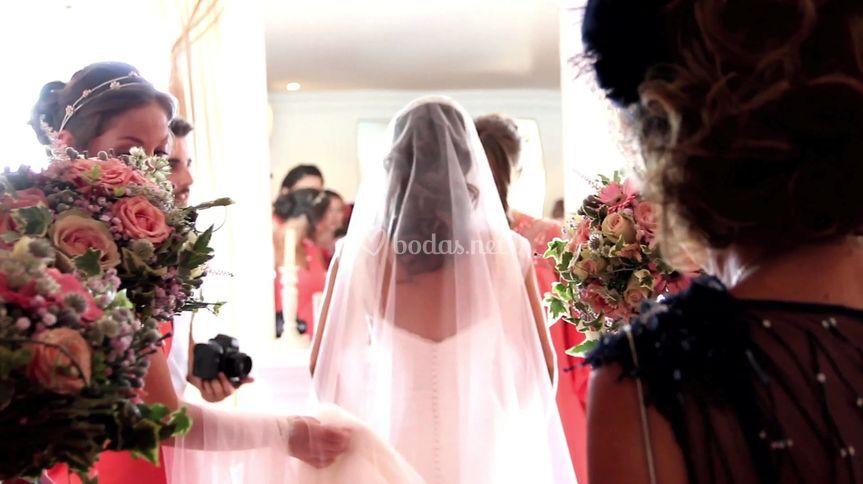 Entrando a la ceremonia