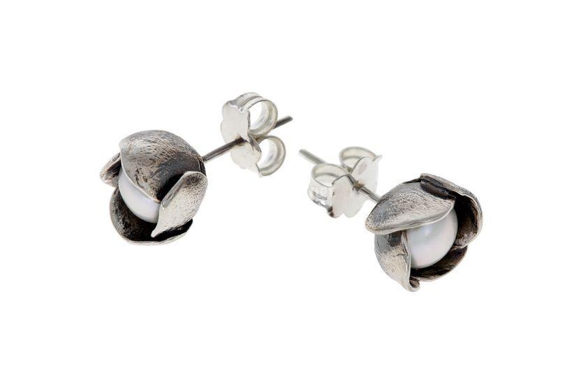 5679785f9691 Pendientes perla y plata Pendientes perla y plata