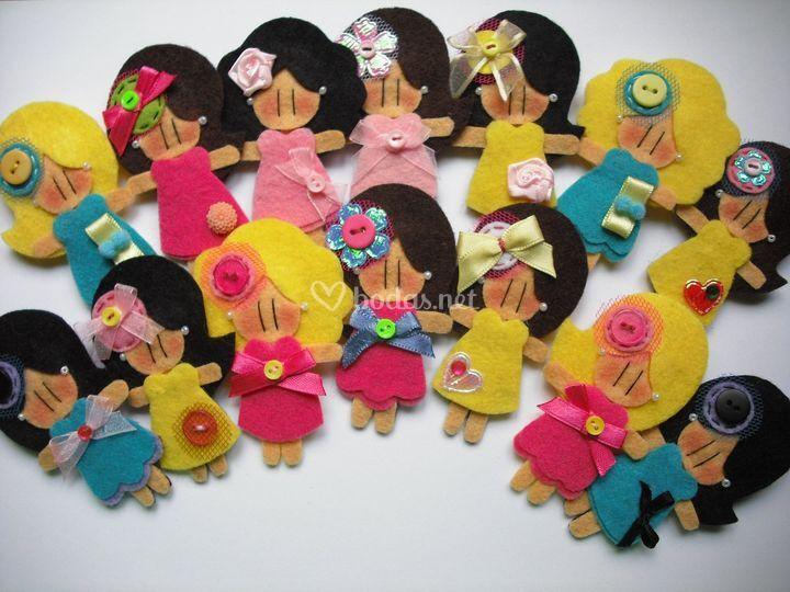 Muñecas para broche o llavero