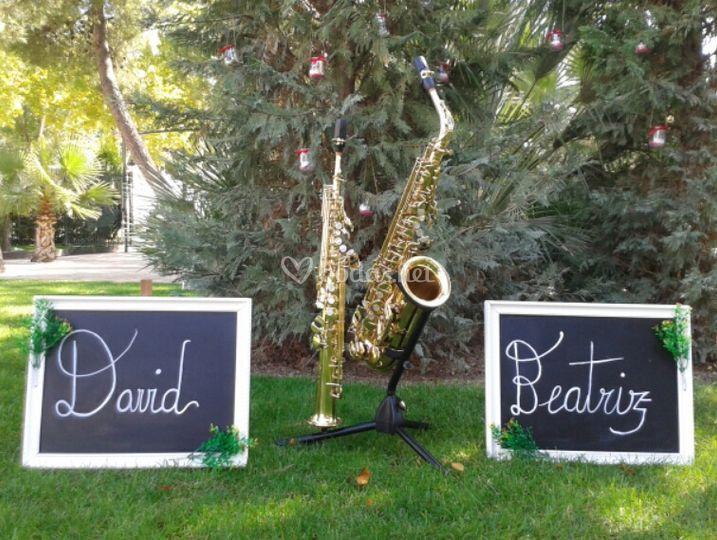 Saxofones soprano y alto