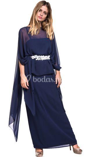 Vestidos de madrina en azul noche