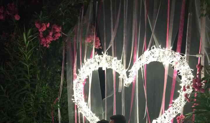 Photocall corazón romántico