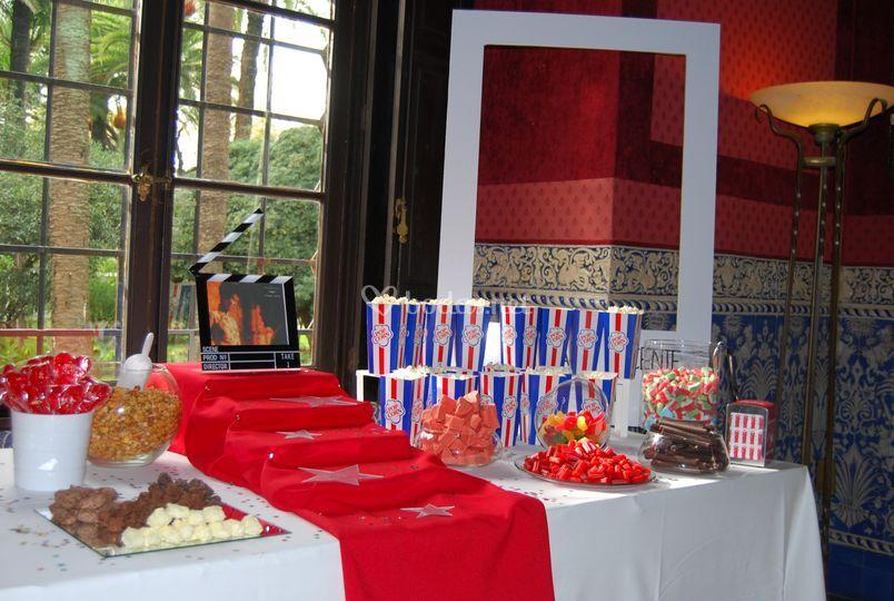 Mesa dulce personalizada-cine